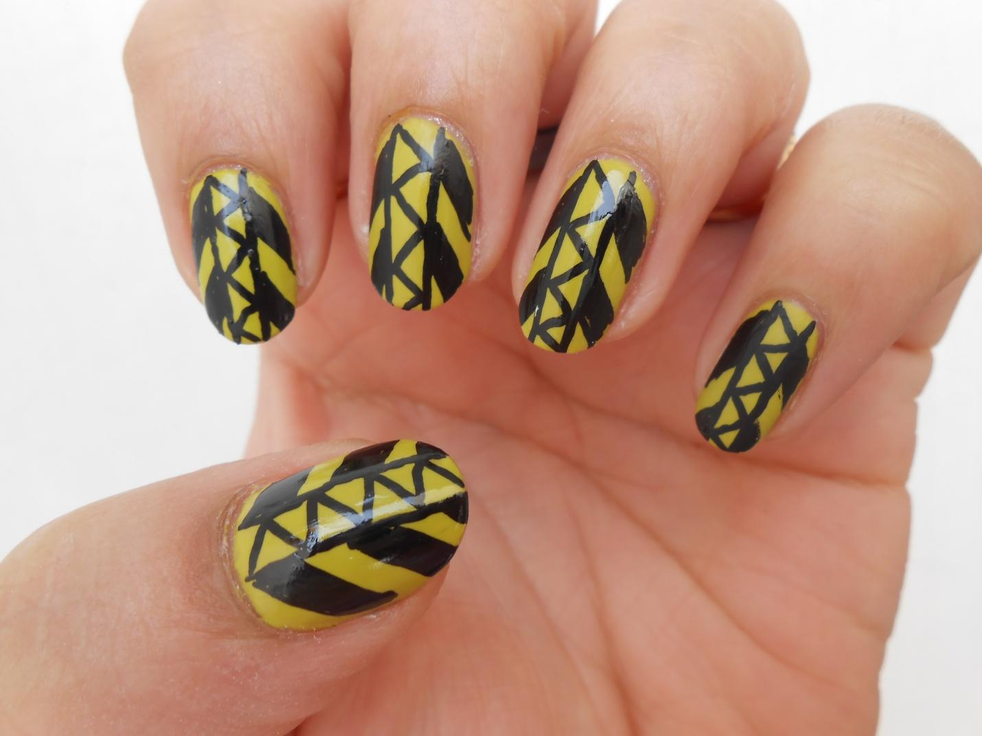 Manicure Addict: Guest Post: Tribal Nail Art Tutorial