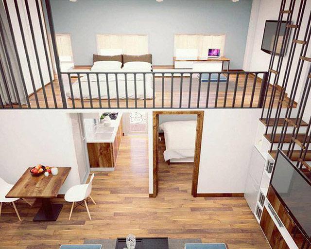 Phòng ngủ có gác lửng đẹp 2