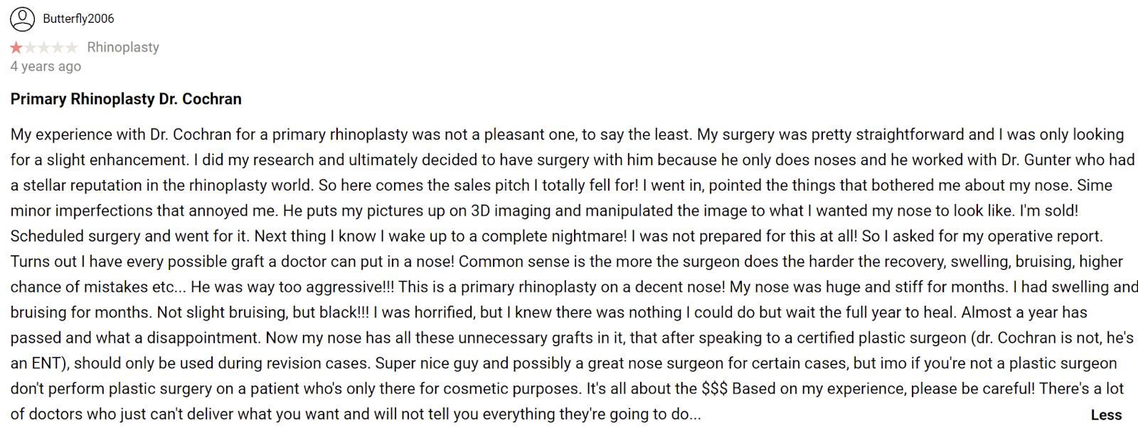 Dallas Rhinoplasty Center review