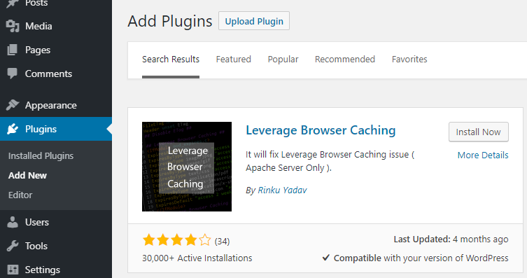 Plugin leverage browser caching