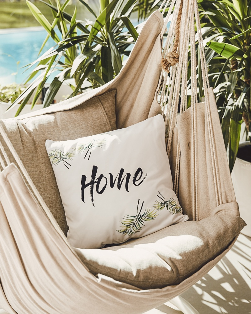 hammock with a pillow