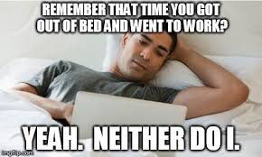 Working from home memes covid