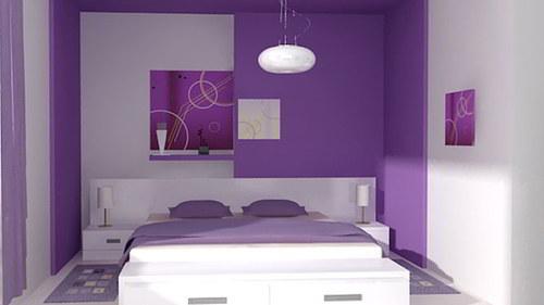 pintar y decorar dormitorio color morado