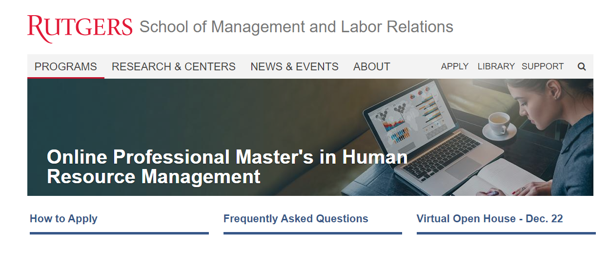 Online Professional Master's in Human Resource Management [Rutgers University]