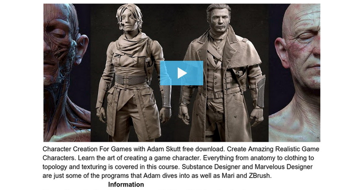 Character Creation For Games With Adam Skutt Free Download Google Docs