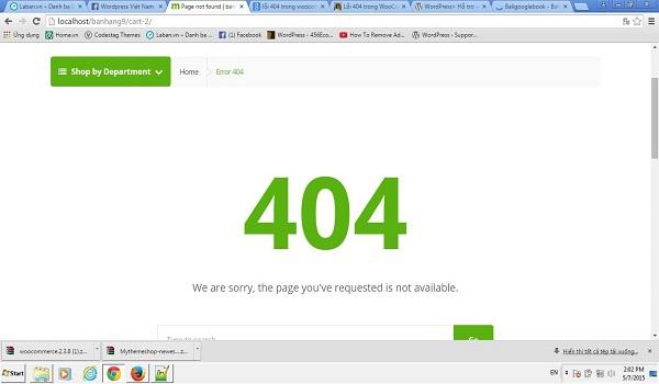 """Mọi trang Web đều nên có cài đặt """"Lỗi 404 - Trang không tìm thấy"""""""