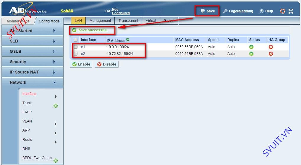 Configure A10 Networks Routed Mode (8)