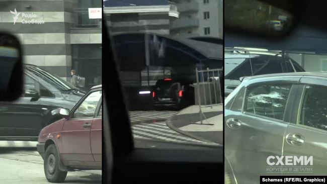 Журналісти помічали, як це авто декілька днів заїжджало зранку в підземний паркінг ЖК