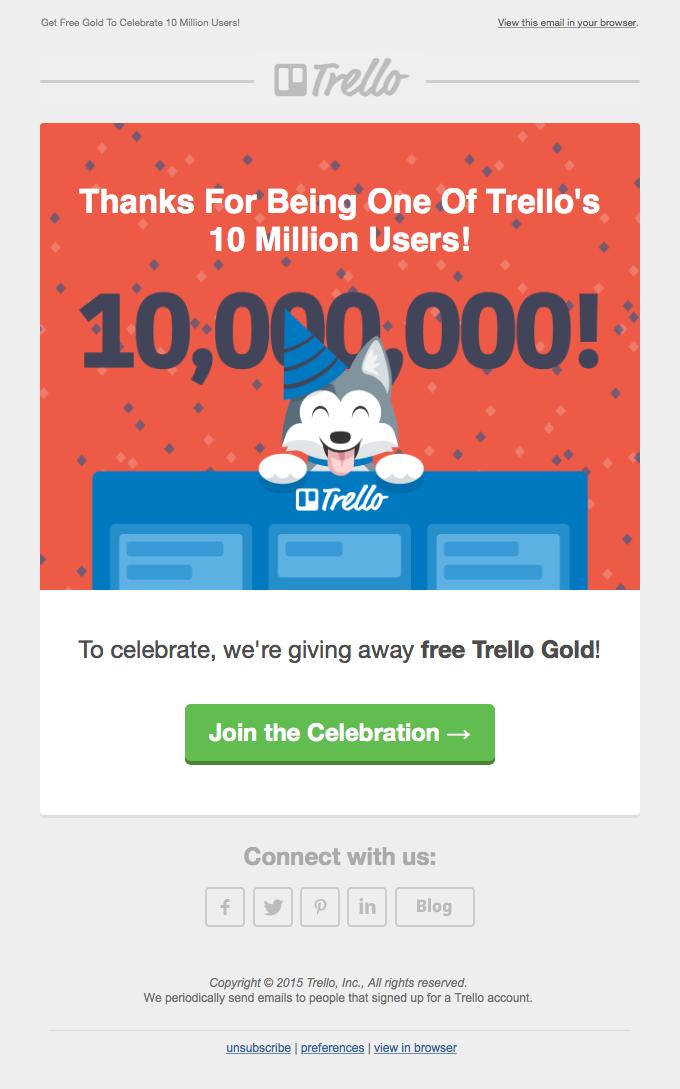 Email Blasts - Trello Example