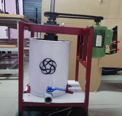 The Hydrapulper made by students from IIT Palakkad