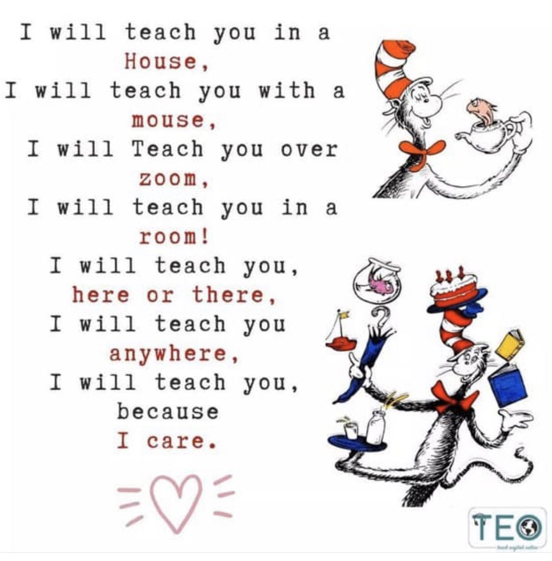 """Holly Draughn on Twitter: """"#soaringeagles , we will teach you here or  there. We will teach you ANYWHERE! I sure do miss Dr Seuss week when we  were all together. @AldermanEagles #nhcschat…"""