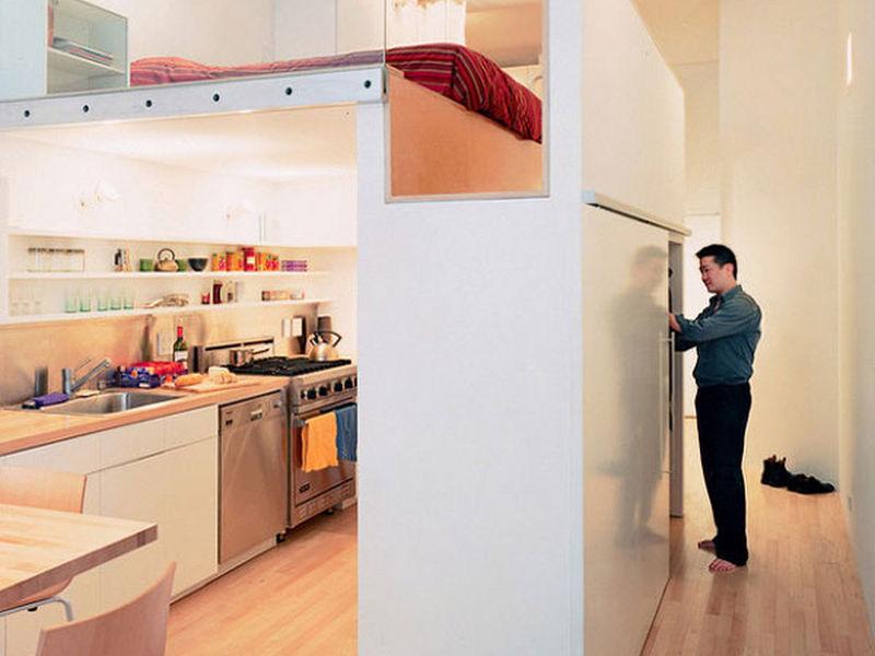Phòng ngủ trên bếp 7