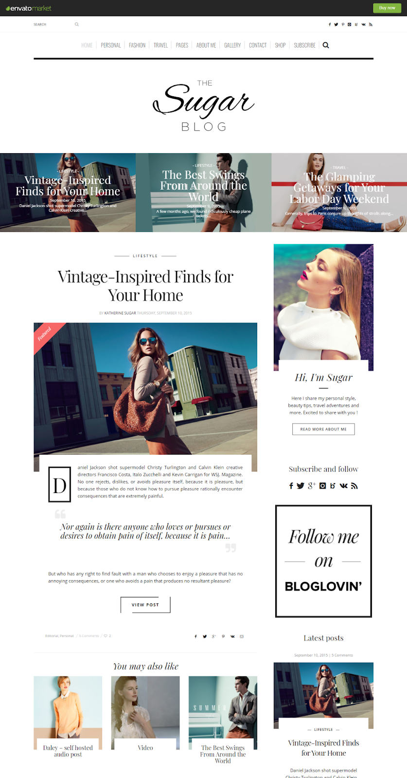 Best WordPress Instagram Themes Sugar