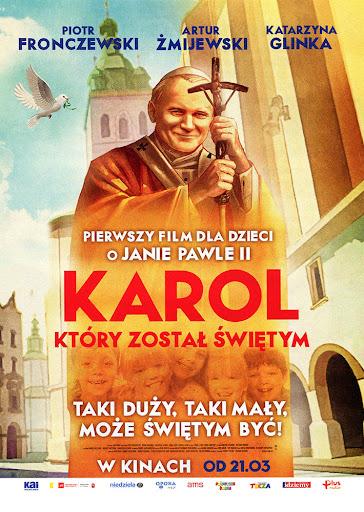 Przód ulotki filmu 'Karol, Który Został Świętym'