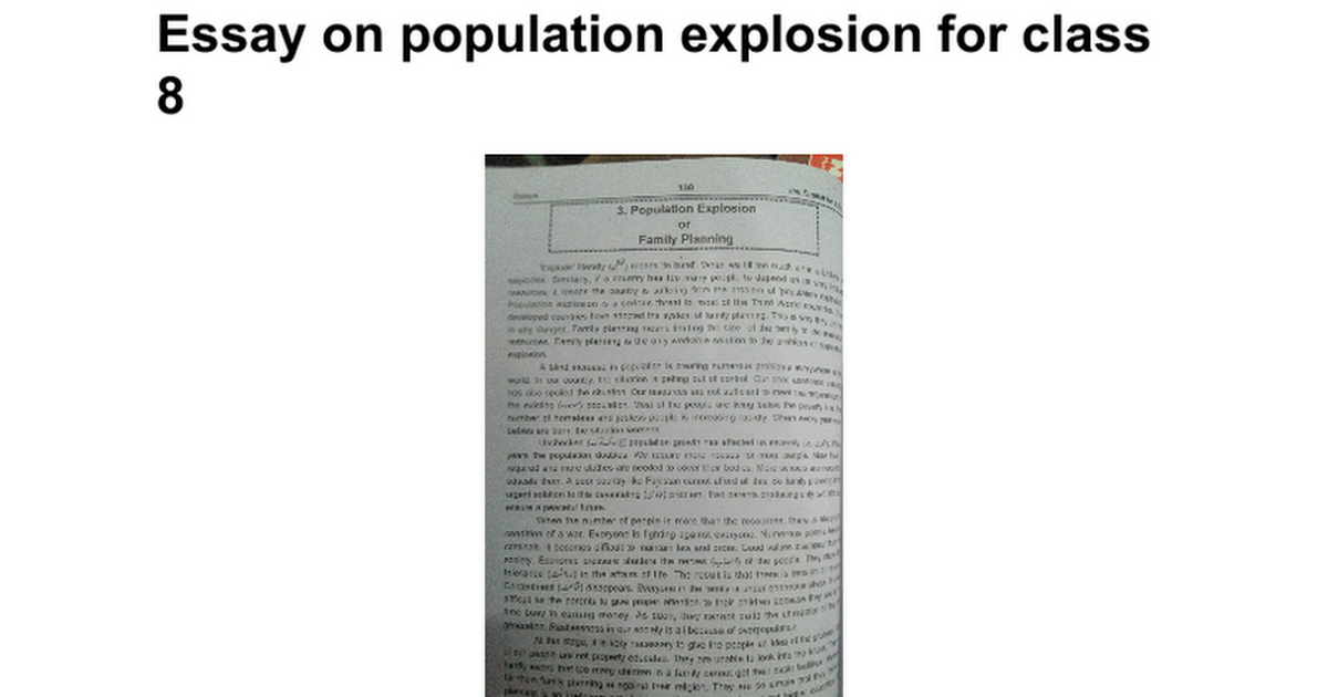 essay on population explosion for class google docs