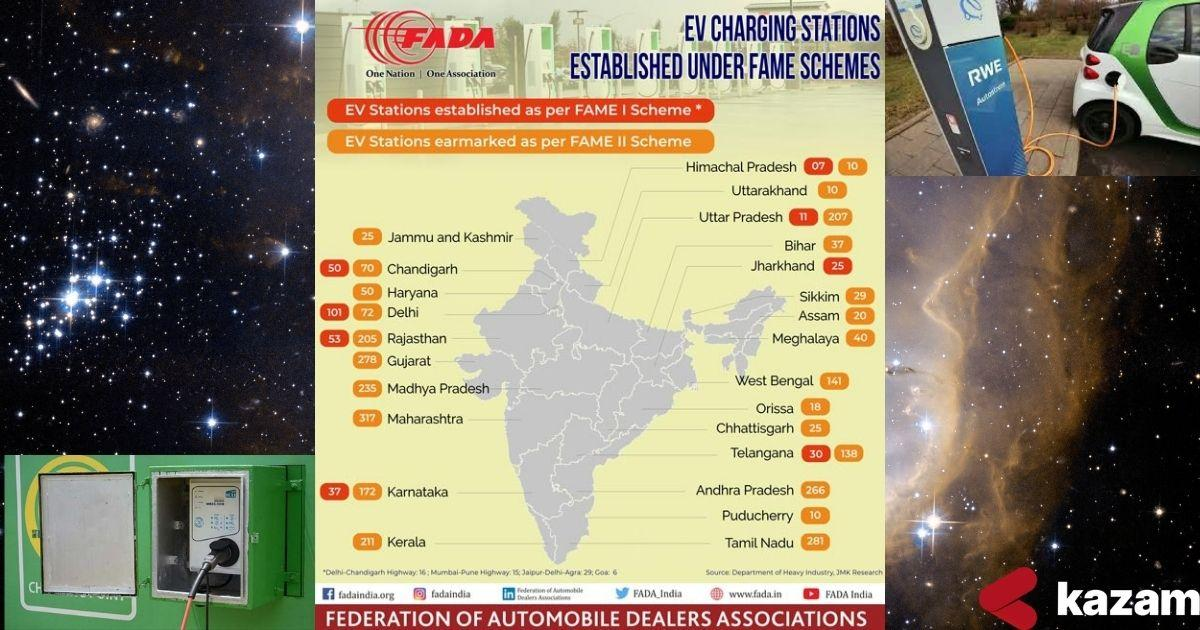 Electric vehicle charging hubs,electric vehicle-friendly environment,installation of charging stations,FAME,FAME-I,FAME-II,flexible set-up process,Maharashtra,Gujarat,Andhra Pradesh,Policy of states,objectives,measures,investment generation,employment generation,subsidies for the users,appreciation to electric vehicle manufacturers and users,smooth transition to electric mobility sector,cooperation of state and central governments,second home to electric vehicles, kazam, electric charging stations.