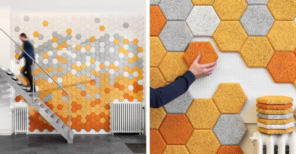 Gạch ốp tường với màu sắc bắt mắt