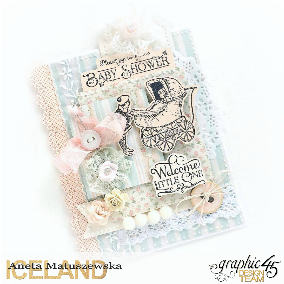 Baby 2 Bride baby shower card for Graphic 45, by Aneta Matuszewska, photo 1.png