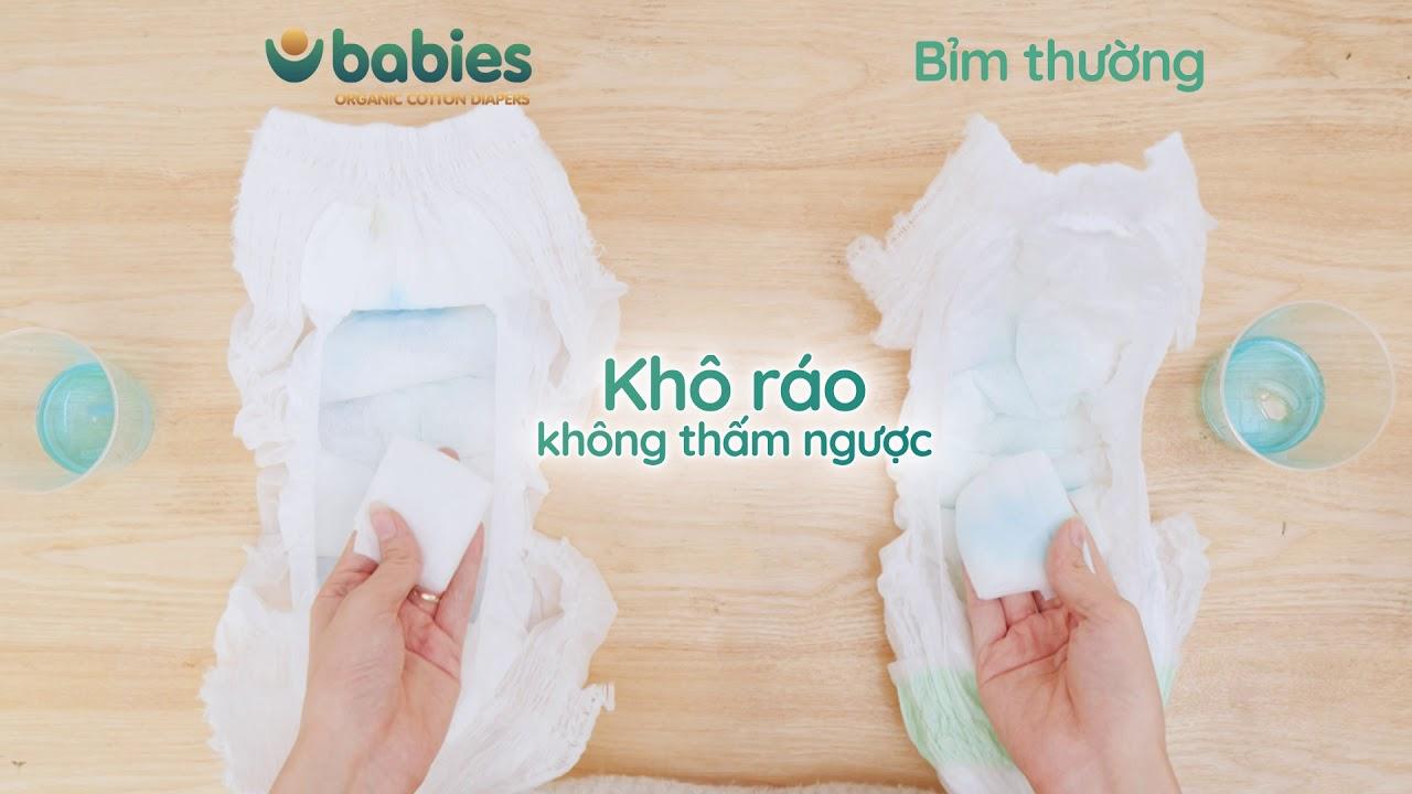 Độ thấm hút ấn tượng của Babies Organic