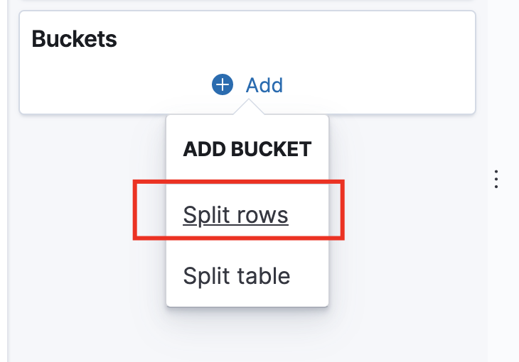 Split rows setting
