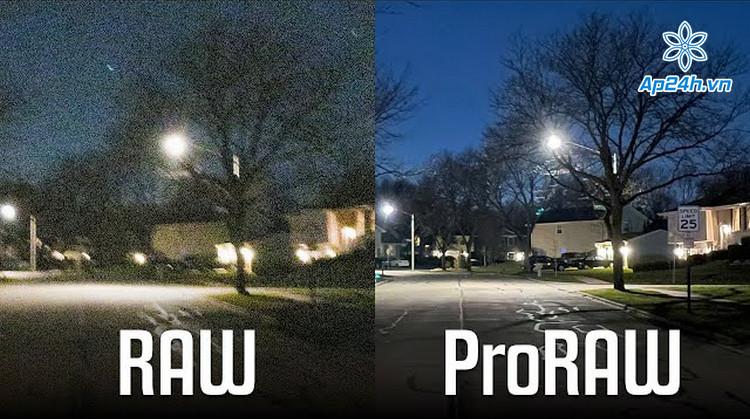 Định dạng ProRAW có chất lượng cao nhưng dung lượng lớn