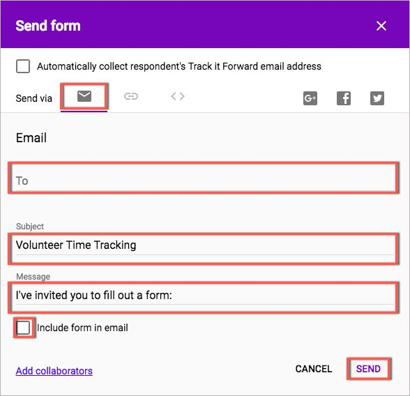 Use Google Forms and Spreadsheets to Track Volunteer Time | Track It