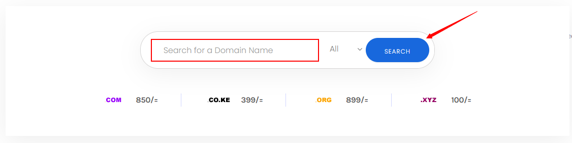 how to register domain name in Kenya