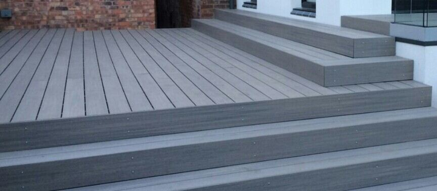 replacing concrete slab with decking