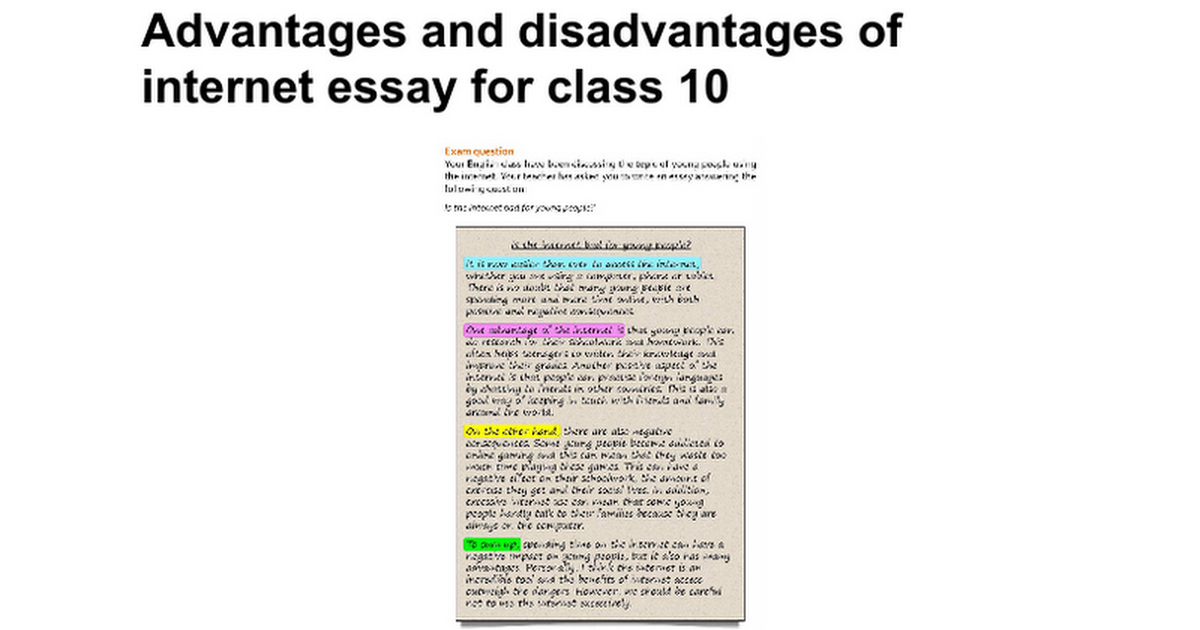 advantages and disadvantages of internet essay for class  advantages and disadvantages of internet essay for class 10 google docs