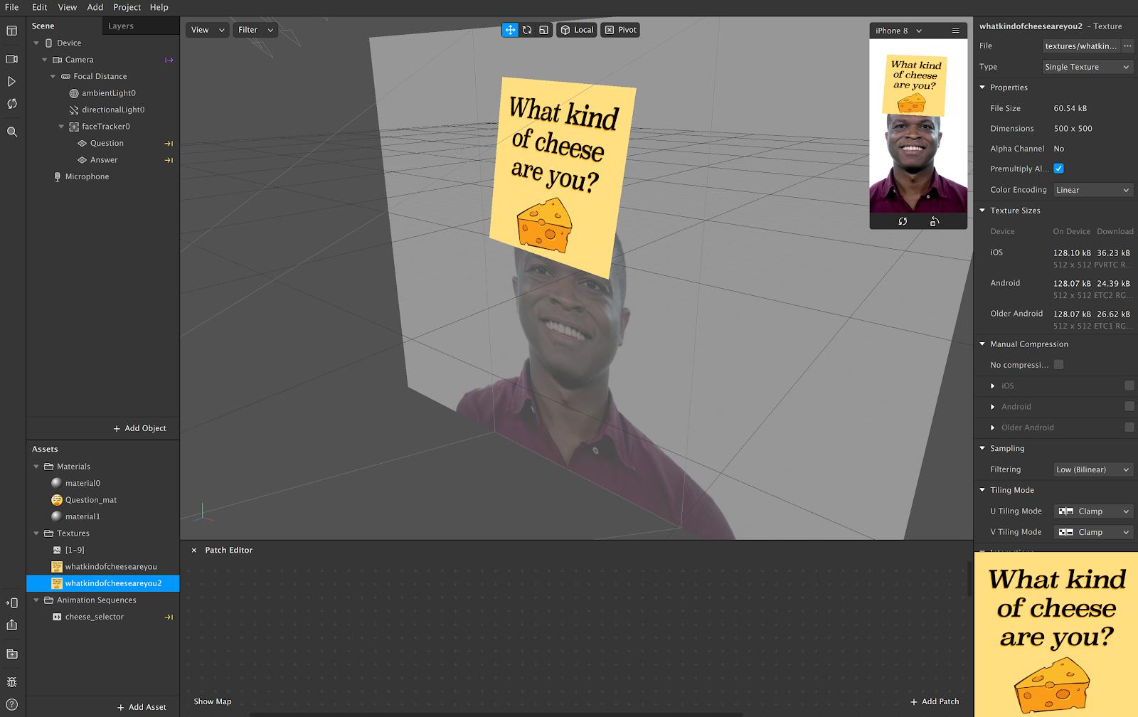 Quiz Lenses being developed on Spark AR