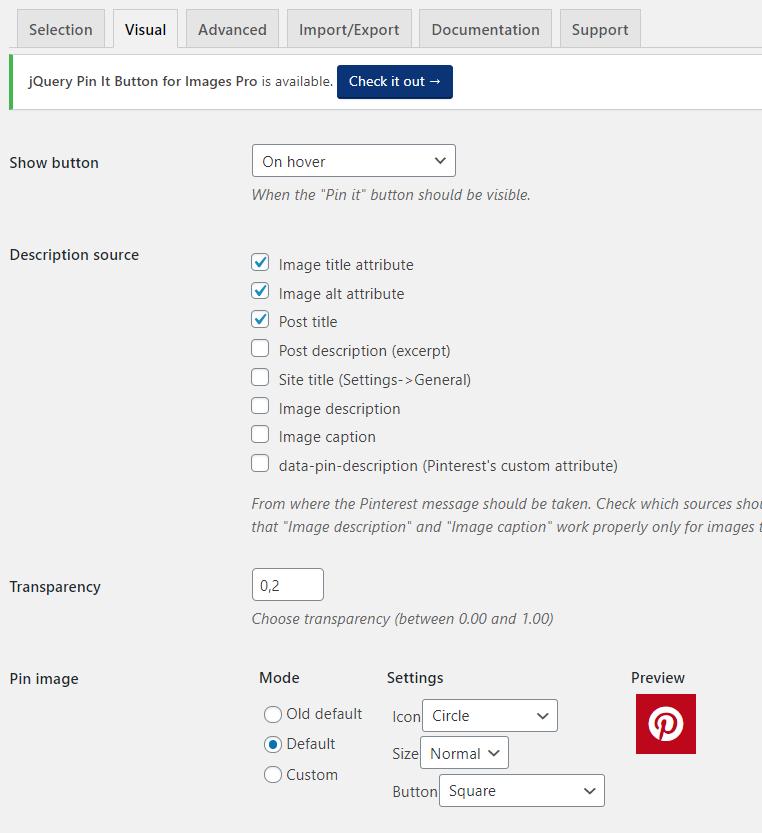 Après avoir installé le bouton Pin-it, et modifier son apparence dans les paramètre du plugin WordPress