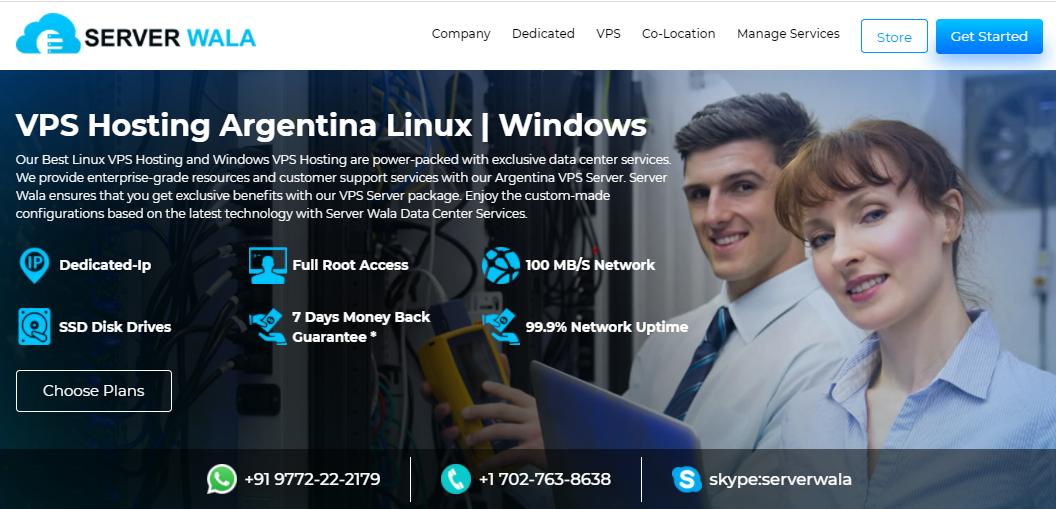 Serverwala VPS Hosting in Argentina