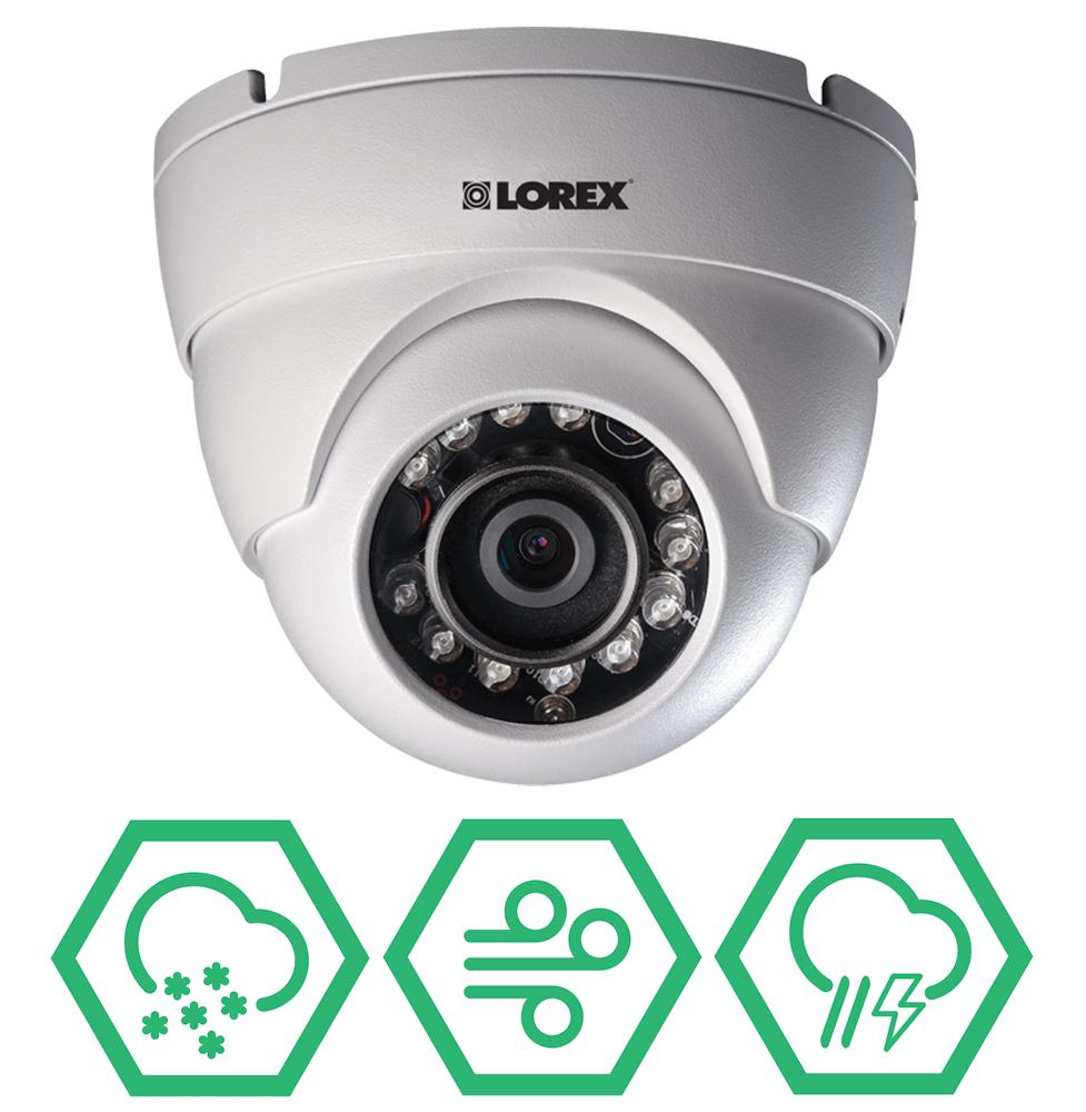 weatherproof and vandal resistant IP cameras