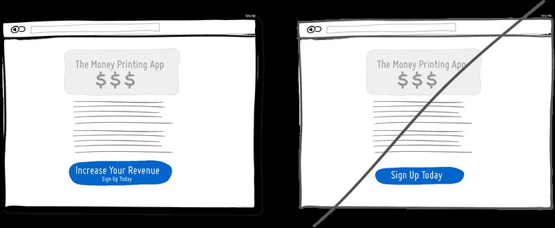 Формулируйте тексты СТА из преимуществ вместо описания задач