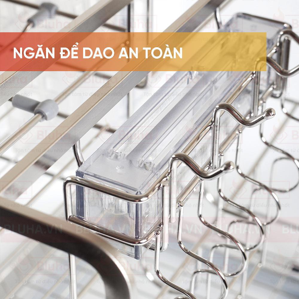 Ngăn để dao an toàn - Giá chai lọ giao thớt Garis inox nan - Phụ kiện tủ bếp chính hãng