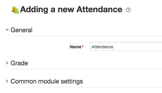 Attendance Settings