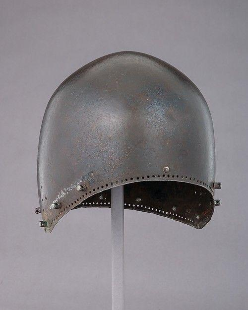 German bascinet-cervelliere with holes for aventail