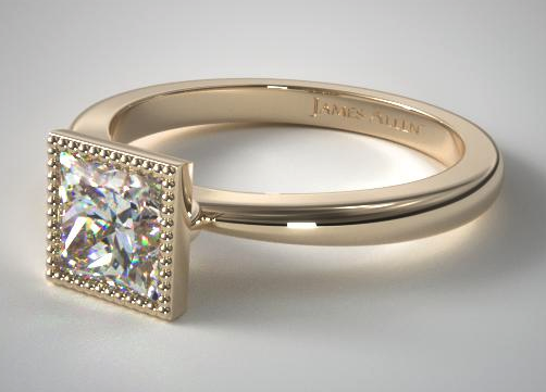Yellow Gold Milgrain Bezel Solitaire from James Allen
