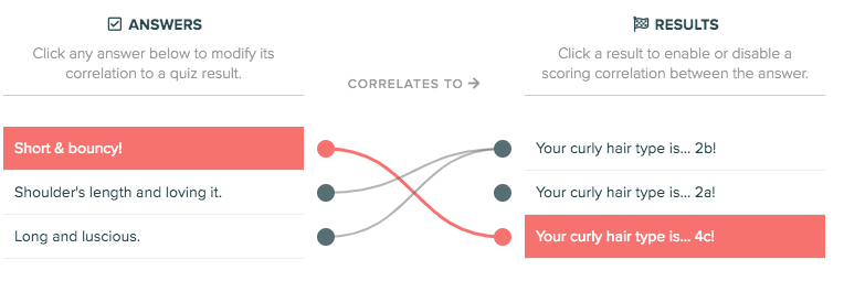 correlating your answers with results
