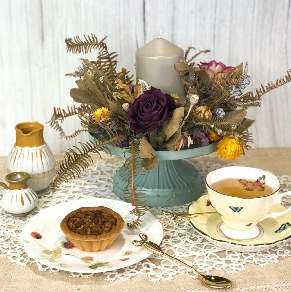 iris鳶尾花集的花藝課程都有包含精緻手工下午茶