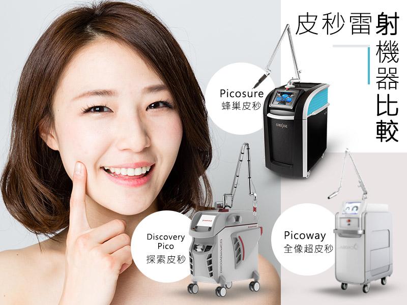 [台中醫美]皮秒雷射機器比較:Discovery Pico/Picosure/Picoway,認識皮秒雷射機種差異|靚世紀診所
