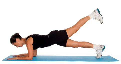 one legged plank pose