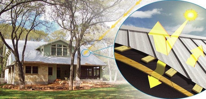 Sử dụng tôn xốp cách nhiệt làm hạn chế hấp thụ nhiệt giúp ngôi nhà luôn mát mẻ