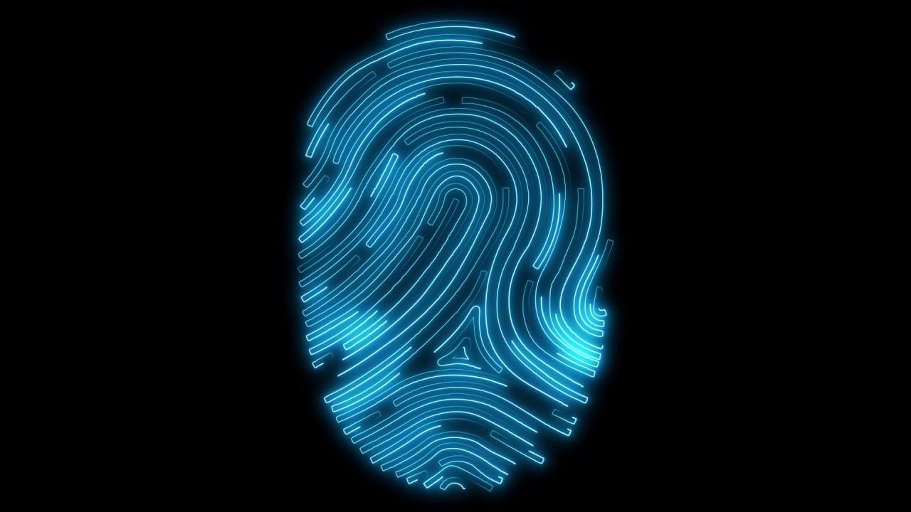 Digital Fingerprint Scan in Full HD