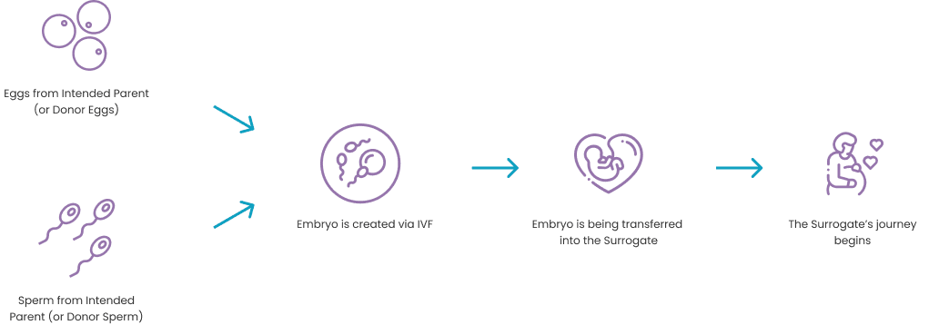 how does gestational surrogacy process work