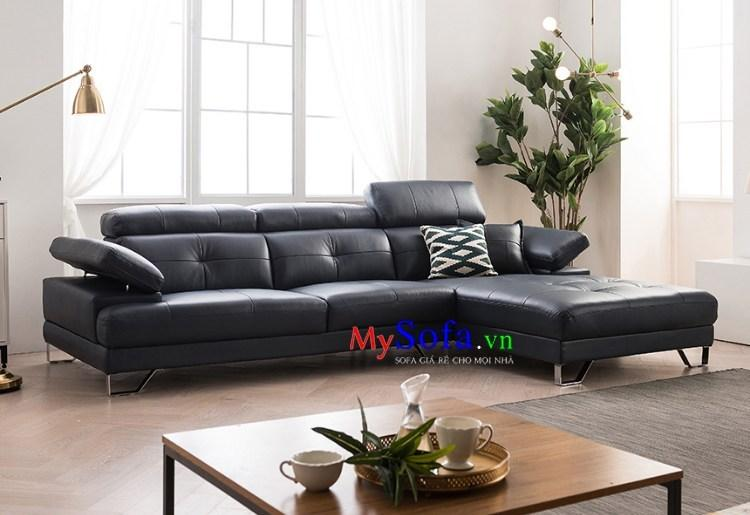 Sofa da hiện đại làm điểm nhấn cho phòng khách đáng được ưa chuộng hiện nay