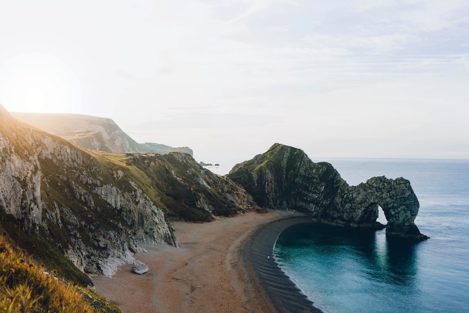 a particularly challenging part of Jurassic Coast route in Cornwall, UK