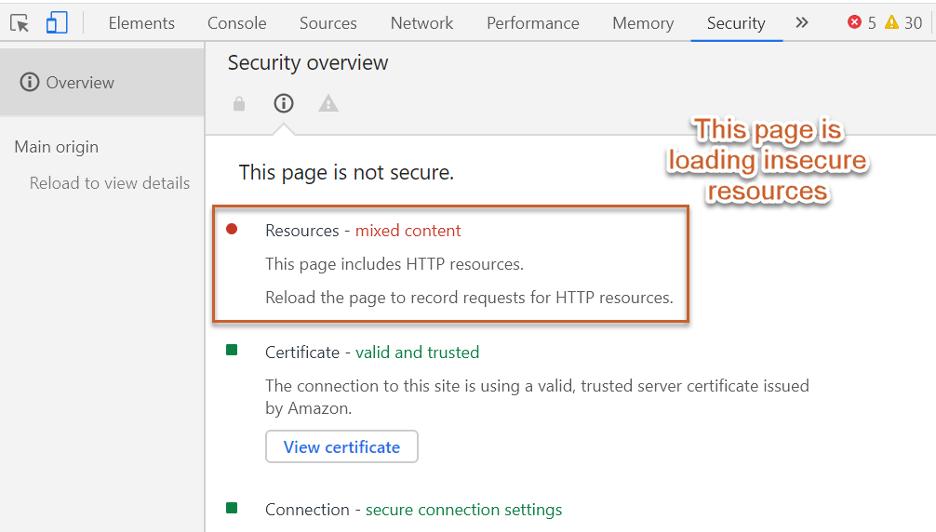https so với https tải không an toàn