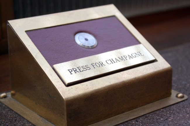 Champagne Button at Searcys at St Pancras in London