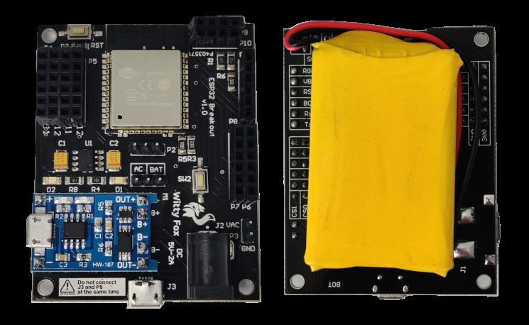Witty Fox - ESP32 Storm Board with On-Board Li-ion Battery & Wireless Programming